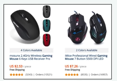 gaming mouse aliexpress