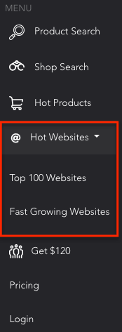 Hot website tab