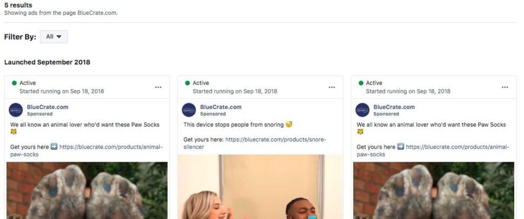 Facebook ads research